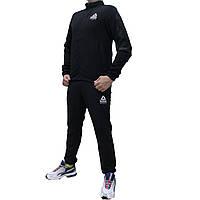 Черный спортивный костюм Reebok CrossFit плащевка с прямой курткой (Реплика)