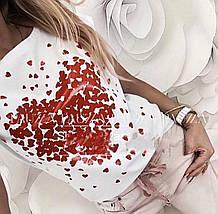 Біла футболка оверсайз жіноча, фото 2