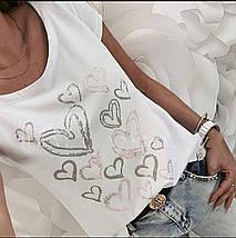 Біла футболка оверсайз жіноча, фото 3