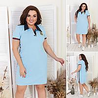 Женское летнее платье в расцветках р.50,52,54,56, фото 1