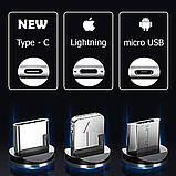 Кабель магнитный USB SKY (R DUAL-line) Apple-lightning (120 см) Red, фото 2