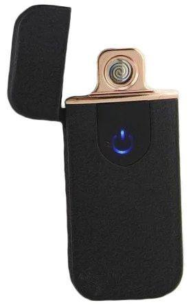 Электронная аккумуляторная спиральная зажигалка Classic Fashionable (5414 ZGP 5) черная матовая