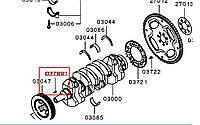Шпонка шківа колінвалу переднього 1130A024. MITSUBISHI