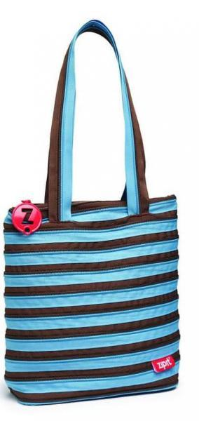Сумка Zipit Premium Tote / Beach Ocean Blue & Soft Brown (ZBN-4)