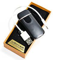 Электронная аккумуляторная спиральная зажигалка Classic Fashionable (5414 ZGP 5) черная глянцевая, фото 1