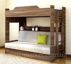 Двухъярусная кровать  с раскладным спальным местом  ДКД-0505