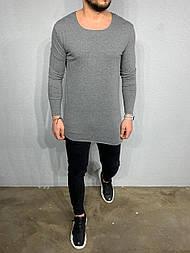 😜 Лонг - мужской лонг серый удлиненный