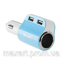 Автомобильное зарядное устройство M-Life (ML0690) 2xUSB, 3,1/1A