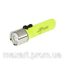 Фонарик Vipow (URZ0045) 3 LED, водозащитный, желтый
