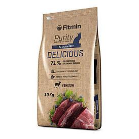 Fitmin cat Purity Delicious / вкусный комплексный корм с тщательно подобранных ингредиентов для требовательных
