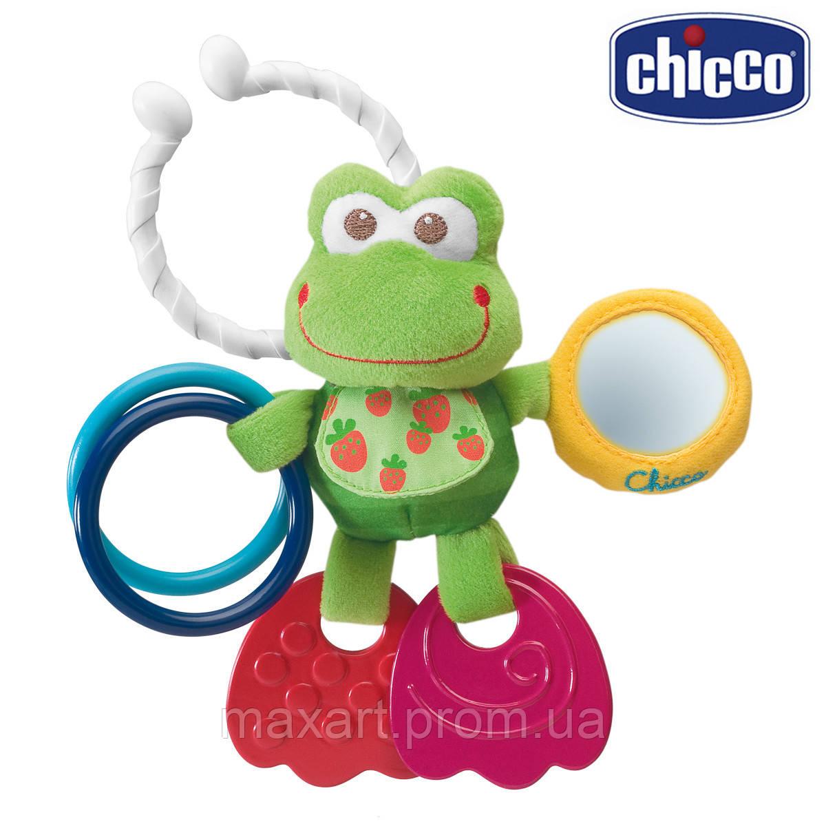 Погремушка плюшевая Chicco - Жабка (00906.00)