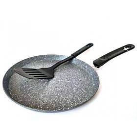 Сковорода млинна 22 см з мармуровим покриттям Bohmann BH-71010-22