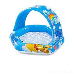 Детский надувной бассейн с навесом 58415 Intex Винни Пух