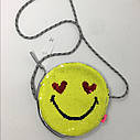 Стильная сумочка  эмоции смайлик с  пайетками перевертышами GAP  ГАП   Оригинал, фото 2