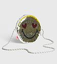 Стильная сумочка  эмоции смайлик с  пайетками перевертышами GAP  ГАП   Оригинал, фото 5
