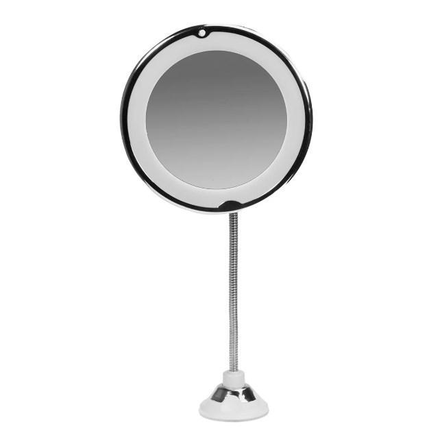 Гибкое зеркало с подсветкой Supretto Серебристый (5658)