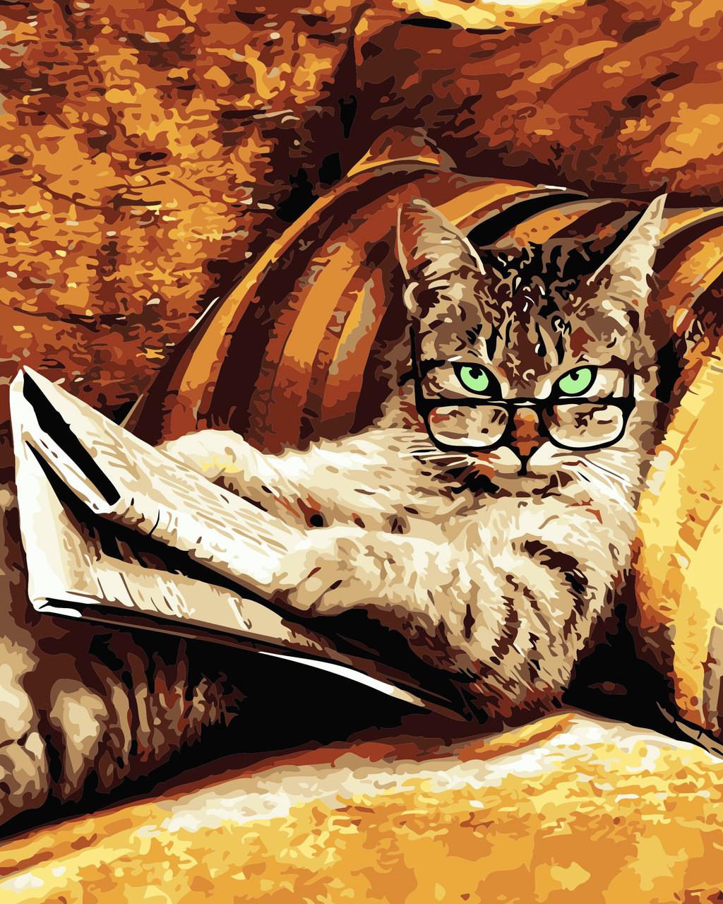 Художественный творческий набор, картина по номерам Кот с газетой, 40x50 см, «Art Story» (AS0557)