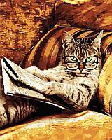 Художественный творческий набор, картина по номерам Кот с газетой, 40x50 см, «Art Story» (AS0557), фото 1