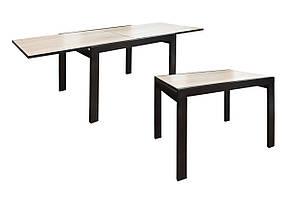Раскладной обеденный стол Слайдер №2-Твист 1000-2000х817 мм венге-крем
