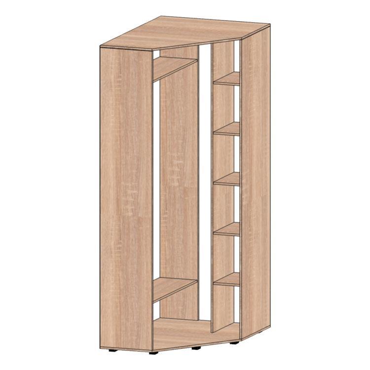 Угловой шкаф 1но дверный №1 80х80х240 (дверь распашная) Алекса