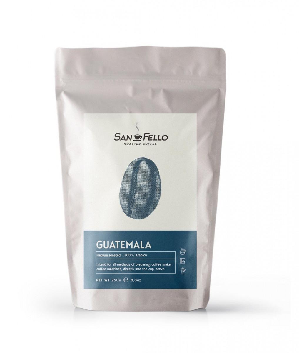 Кофе в зернах свежая обжарка Guatemala 250 грамм