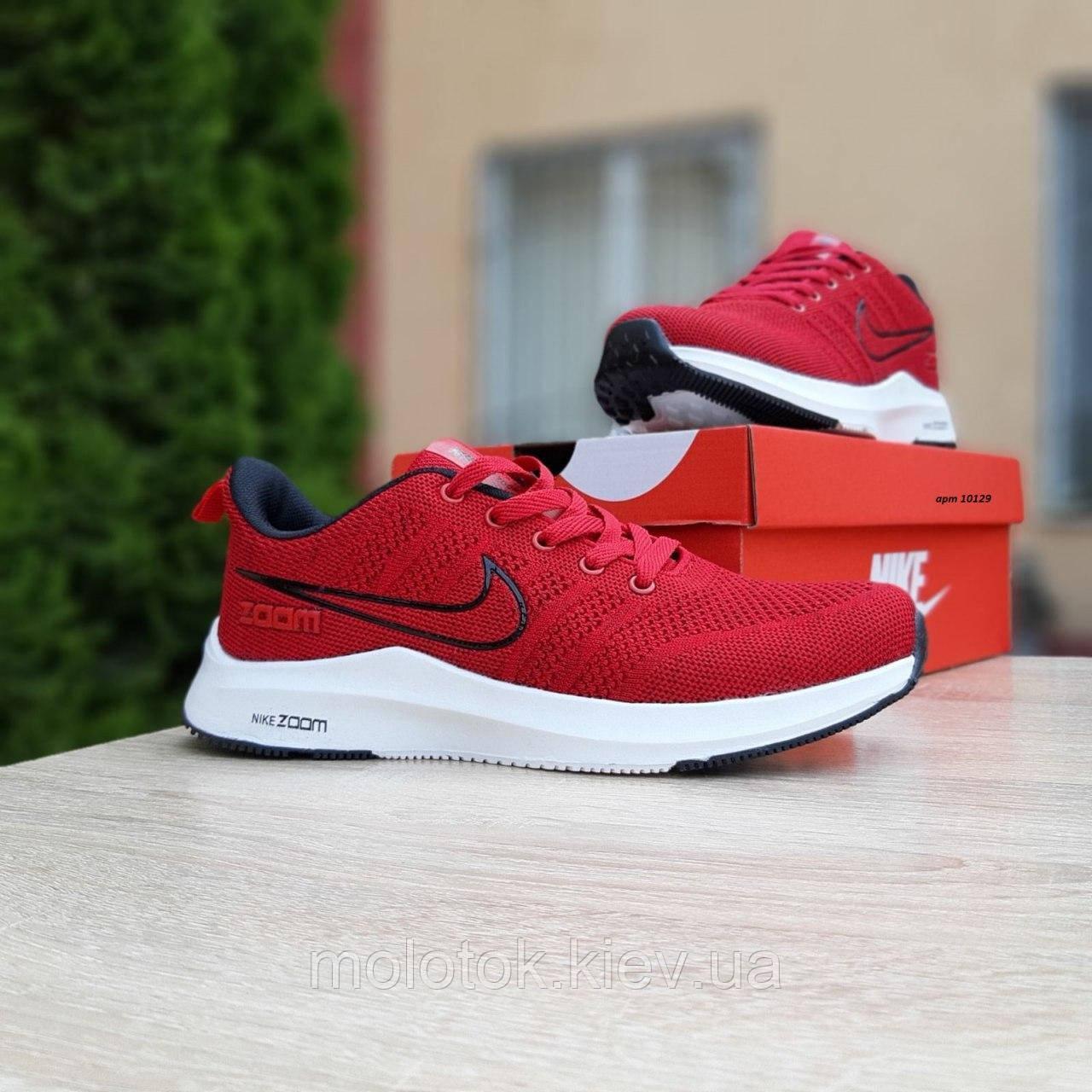 Чоловічі кросівки в стилі Nike Zoom червоні