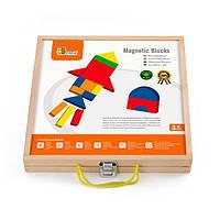 Набор магнитных блоков Viga Toys Формы и цвета (59687), фото 1