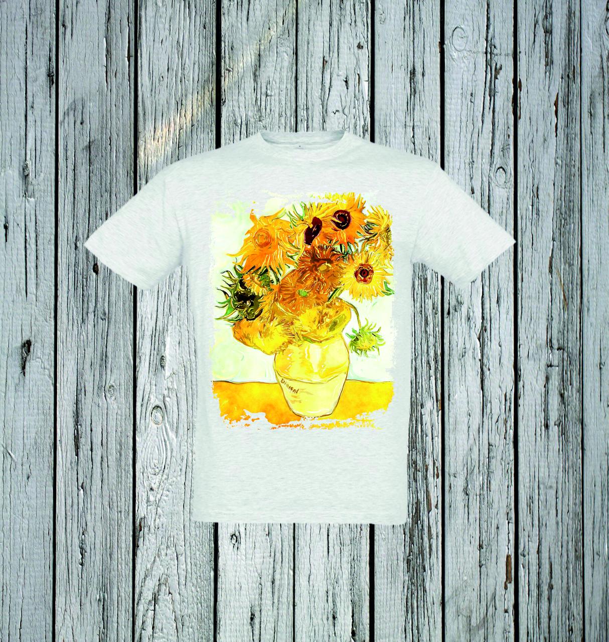 Футболка YOUstyle Sunflower 0166 XXL Light Gray