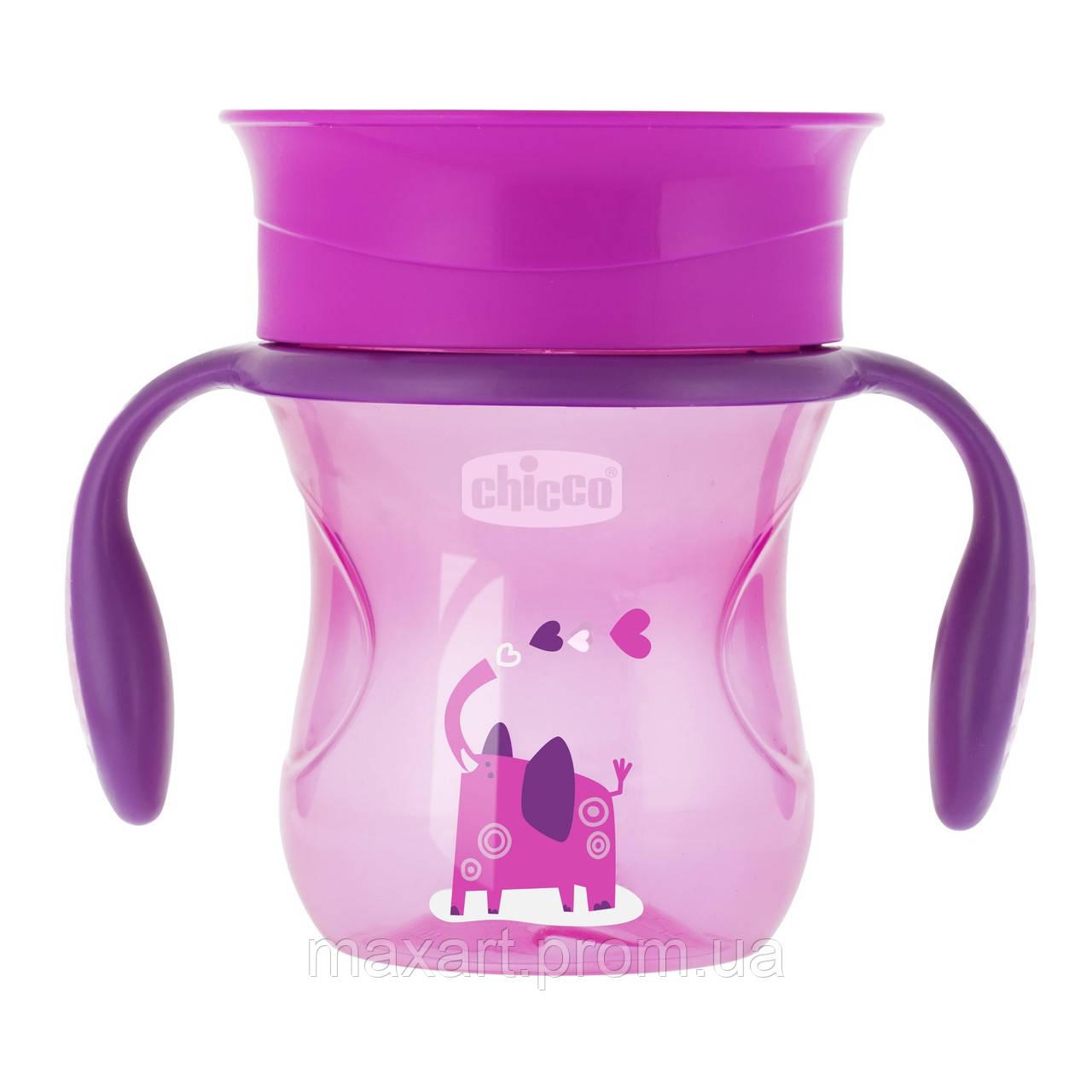 Чашка-непроливайка Chicco - Perfect Cup (06951.10) 200 мл / 12 мес.+ / розовый