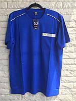 Футболка мужская батальная без воротника в розницу синий