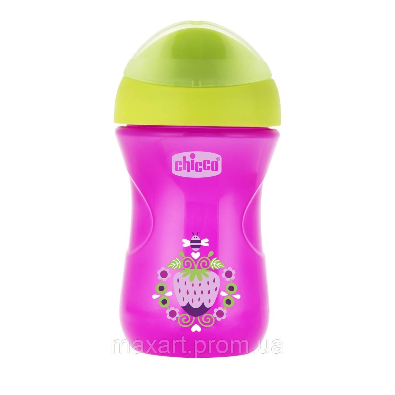 Чашка-непроливайка Chicco - Easy Cup (06961.10P) 266 мл / 12 мес.+ / розовый