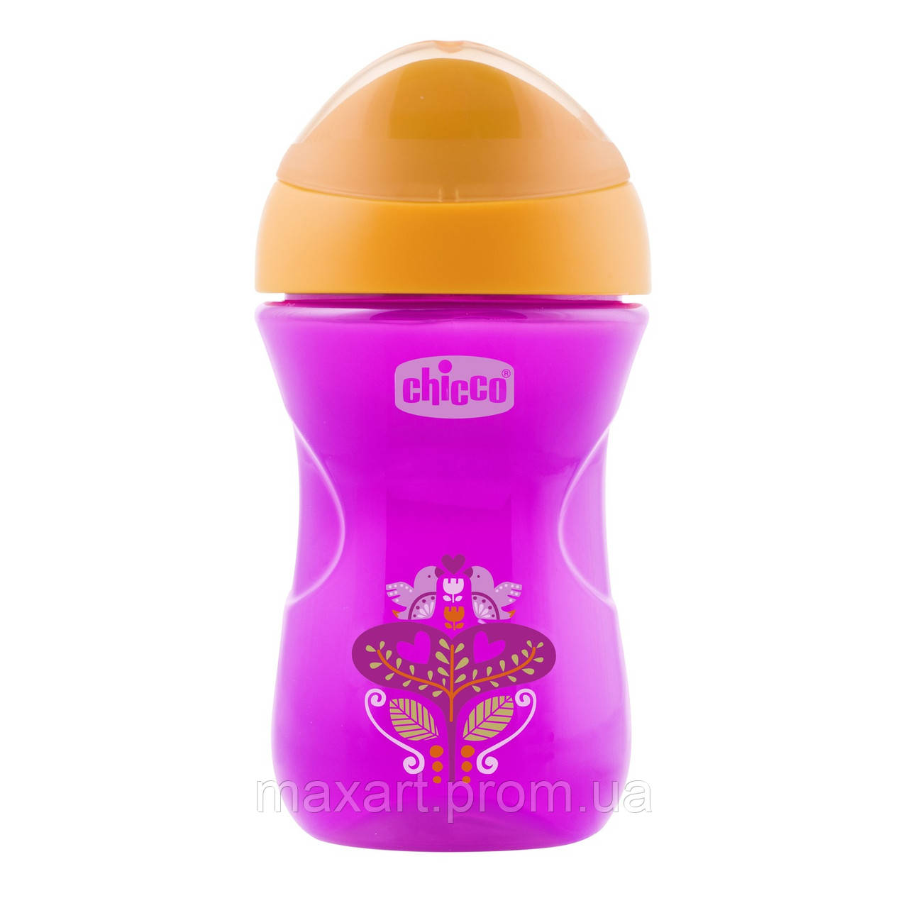 Чашка-непроливайка Chicco - Easy Cup (06961.10V) 266 мл / 12 мес.+ / фиолетовый