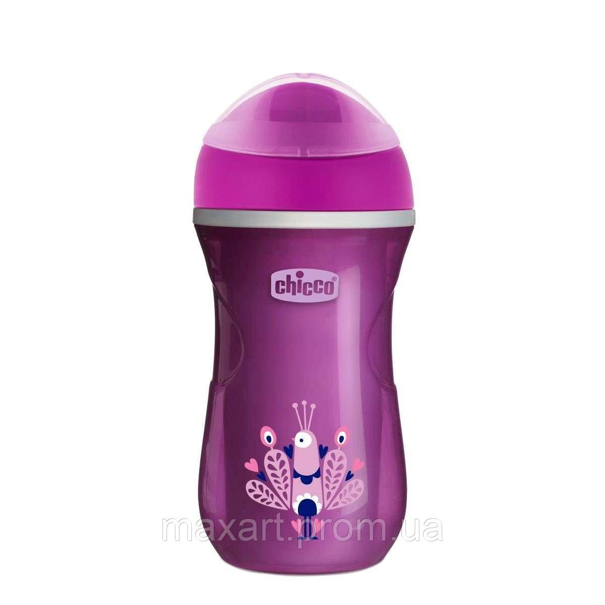 Чашка-непроливайка Chicco - Active Cup (06981.11) 266 мл / 14 мес.+ / фиолетовый