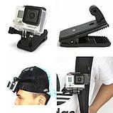 Крепление-клипса  GoPRO / SJCAM / EKEN / Kruger&Matz (TYGP0014) для экшн камеры / видеорегистратора, фото 5
