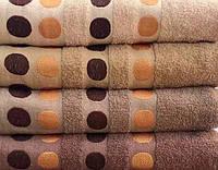 Махровое банное полотенце Кружочки