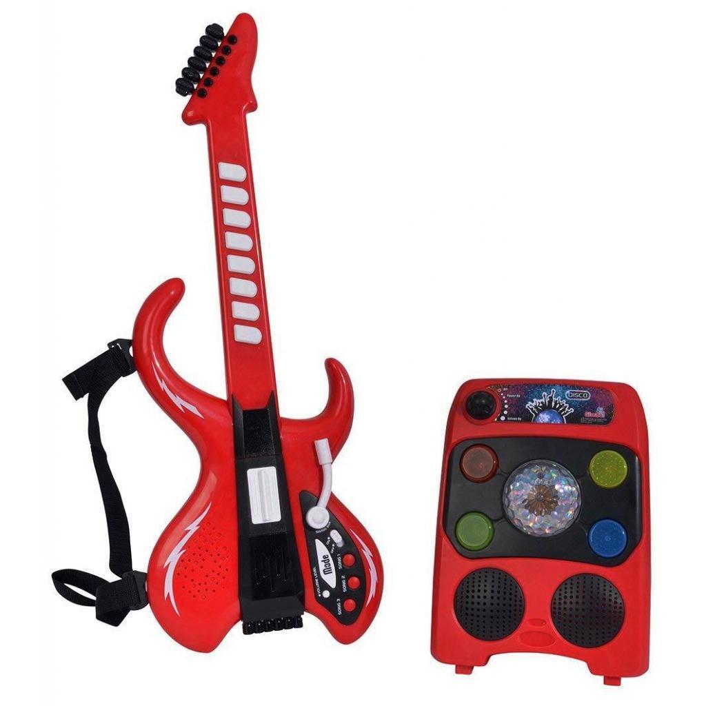 Музыкальная игрушка Simba Диско Электрогитара с усилителем со световыми эффектами 8 ри (6834251)