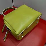 Сумочка шкіряна жовта жіноча, фото 2