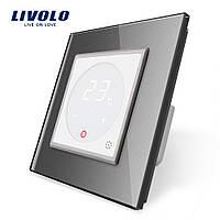 Терморегулятор Livolo для водяных систем отопления цвет белый серая рамка (VL-C701TM-11/15), фото 1