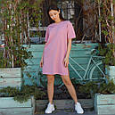 Платье-футболка женское розовое бренд ТУР модель Сарина (Sarina) размер  S, M, L, фото 2