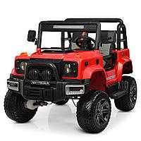 Детский электромобиль Jeep Wrangler 4WD M 4178EBLR-3 красный