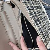 Сумочка жіноча бежево-коричнева, фото 3