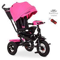 Детский трехколесный велосипед Turbo Trike M 4060HA-6 Розовый | Велосипед-коляска Турбо Трайк