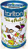 Чорний чай з бергамотом і ваніллю Тарлтон Дружба цейлонський листовий 100 г у жерстяній банці