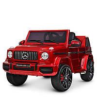 Детский электромобиль Джип Bambi M 4280EBLRS-3 Mercedes Гелендваген красный автопокраска