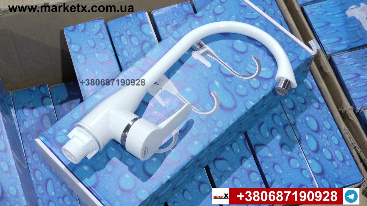 Белый пластиковый смеситель для кухни фирмы UDU, на кухню, для мойки кухонный