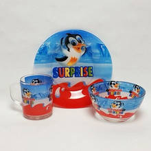 Дитячий набір скляного посуду для годівлі 3 предметів