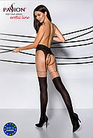 Эротические колготки рисунок-точка с имитацией чулок TIOPEN 003 nero 1/2 (20/40 den) - Passion Страсть. Колготки