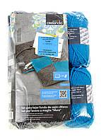 M18-370406, Набор ниток для вязания ( 6 шт.), , серый-голубой