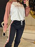 Повседневный костюм с лампасами с капюшоном: худи и штаны (в расцветках), фото 2