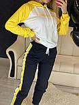 Повседневный костюм с лампасами с капюшоном: худи и штаны (в расцветках), фото 3